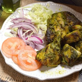 Oven Grilled Hariyali Chicken