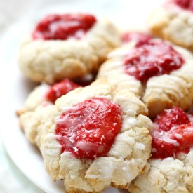 Strawberry Coconut Thumbprints