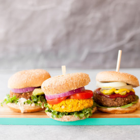 Freezer-Friendly Veggie Burgers