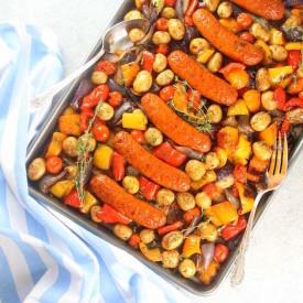 Andouille Sausage Veggie Kabobs