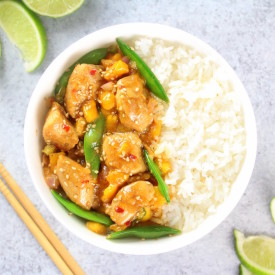 Mango Chicken Stir-Fry with Snap Peas