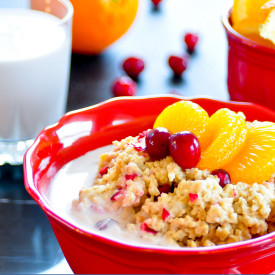 Crock Pot Cranberry Orange Oatmeal