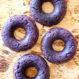 Glazed Purple Sweet Potato Donuts