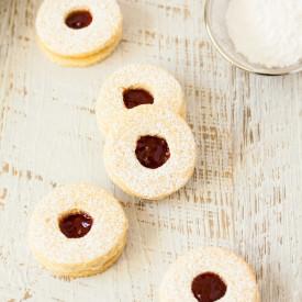 Jam & Coconut Cookies