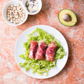 5-Min Prosciutto Avocado Fat Bomb