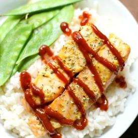 Sriracha Honey Mustard Salmon GF/P