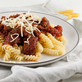 Pasta sauce with ground beef