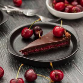 Cherry and Coconut Chocolate Tart