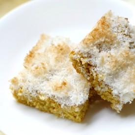 Mango Cake w/ Toasted Coconut Crumb