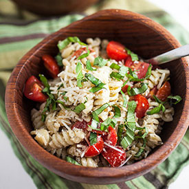 Creamy Pesto Summer Pasta Salad