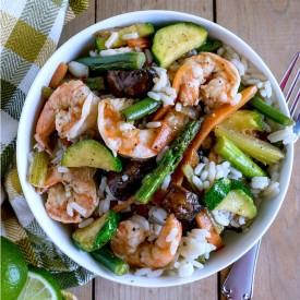 Honey Lime Shrimp & Vegetables