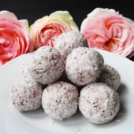 Raw Vegan Strawberry Coconut Truffl