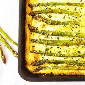 Mac and Asparagus Frittata Bake