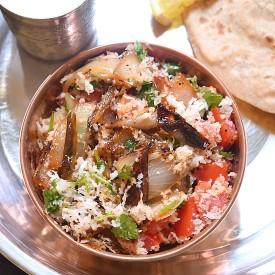 Pyaaz Ka Bharta Smoked Onion Sabji