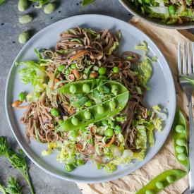 Spring Green Soba Noodle Salad