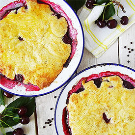 Sour Cherry and Black Pepper Cobble