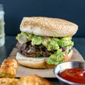 Venison Cheeseburger