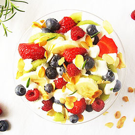 Fruit Salad with Rosemary and Crea