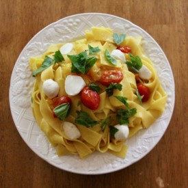 Pappardelle With  Cherry Tomatoes