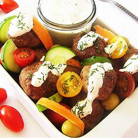 Meatball and Vegetable Salad