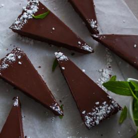 Mint Chocolate Fudge Brownie Tart