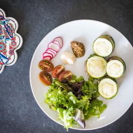 Mini Zucchini Avocado Burgers
