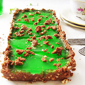 Mint and White Chocolate No Bake