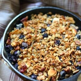 GF/V Skillet Blueberry Crisp For 2