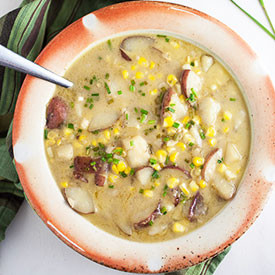 Thai-Style Potato and Corn Chowder