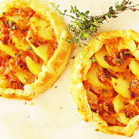 Two Rustic Potato and Thyme Galette