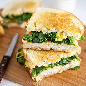 Chicken and Gouda Grilled Cheese