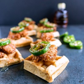 Homemade Chicken and Waffle Bites
