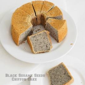 Black Sesame Seeds Chiffon Cake