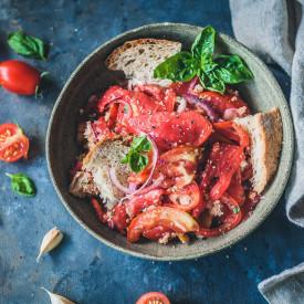 Panzanella Bread and Tomato Salad