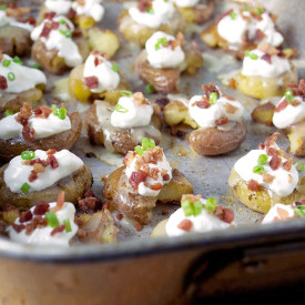 Loaded Smashed Potato Bites