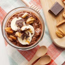 Choco Peanut Butter Overnight Oats