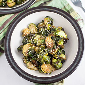 Maple Sesame Brussels Sprouts