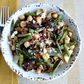 Mushroom & Green Bean Farro Salad