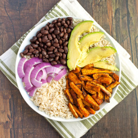 Sweet Potato Black Bean Rice Bowl