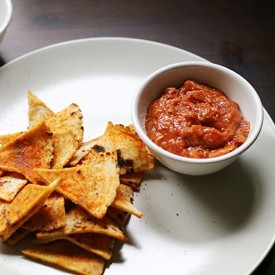 Spicy Roasted Tomato Salsa