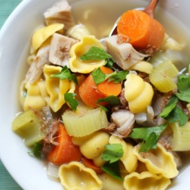 "V/GF ""Chicken"" Noodle Soup"