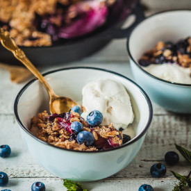 Crispy Berries and Plum Crumble