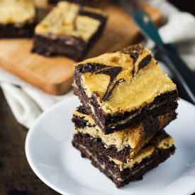 Salted Caramel Cream Cheese Brownie