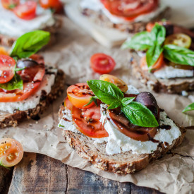 Tomato Ricotta Sandwiches