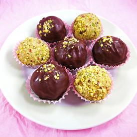 Vegan Matcha Pistachio Truffles