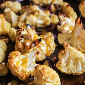 Sweet Onion Roasted Cauliflower