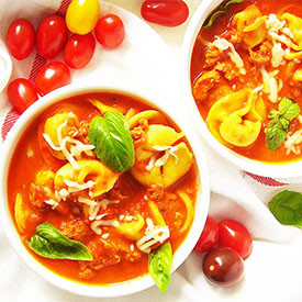 Tortellini Soup with Italian Sausag